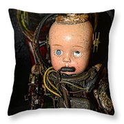 Steampunk - Cyborg Throw Pillow