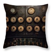 Steampunk - Electrical - Center Of Power Throw Pillow