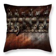 Steampunk - Electrical - Motorized  Throw Pillow by Mike Savad