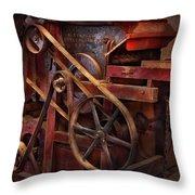 Steampunk - Gear - Belts And Wheels  Throw Pillow