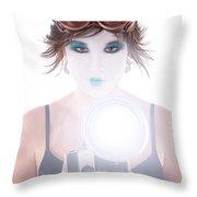 Steampunk Geisha Photographer Throw Pillow