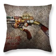 Steampunk - Gun - The Sidearm Throw Pillow