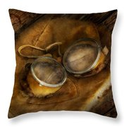 Steampunk - Hey Fly-boy  Throw Pillow