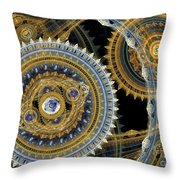 Steampunk Machine Throw Pillow