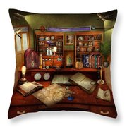 Steampunk - My Busy Study Throw Pillow