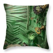 Steampunk - Naval - Plumbing - The Head Throw Pillow