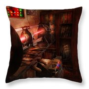 Steampunk - Photonic Experimentation Throw Pillow