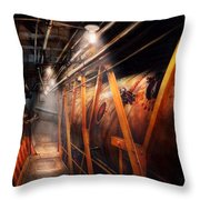 Steampunk - Plumbing - The Hallway Throw Pillow