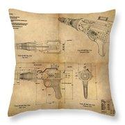 Steampunk Raygun Throw Pillow