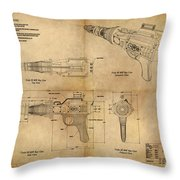 Steampunk Raygun Throw Pillow