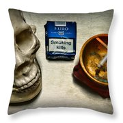 Steampunk Smoking Break Throw Pillow