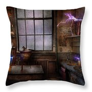 Steampunk - The Mad Scientist Throw Pillow