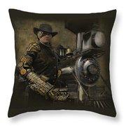 Steampunk - The Man 1 Throw Pillow