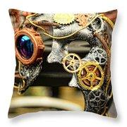 Steampunk - The Mask Throw Pillow