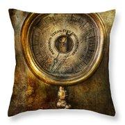 Steampunk - The Pressure Gauge Throw Pillow
