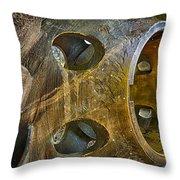 Steampunk Turbine Throw Pillow