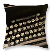 Steampunk - Typewriter - The Age Of Industry Throw Pillow by Paul Ward