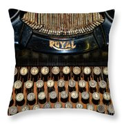 Steampunk - Typewriter -the Royal Throw Pillow by Paul Ward