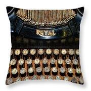 Steampunk - Typewriter -the Royal Throw Pillow