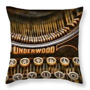 Steampunk - Typewriter - Underwood Throw Pillow