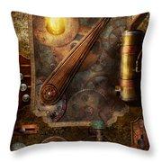 Steampunk - Victorian Fuse Box Throw Pillow