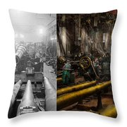 Steampunk - War - We Are Ready - Side By Side Throw Pillow