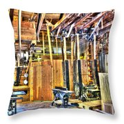 Steampunk Woodshop 4 Throw Pillow