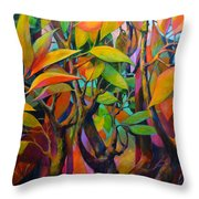 Steams And Leaves # 82 Throw Pillow