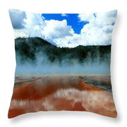 Steams And Reflections Throw Pillow