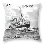 Steamship Menu, 1901 Throw Pillow