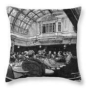 Steamship: Saloon, 1890 Throw Pillow
