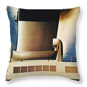 Steamship Travel Poster Throw Pillow by Granger