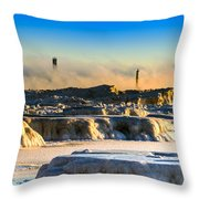 Steamy Iceburgs Throw Pillow