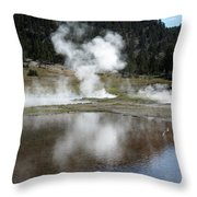 Steamy Reflections Throw Pillow