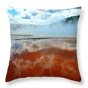Steamy Springs Throw Pillow