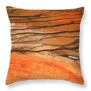Steamy Stones Throw Pillow