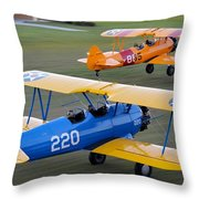 Stearman Departure Throw Pillow