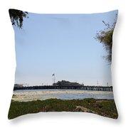 Stearns Wharf Santa Barbara Throw Pillow