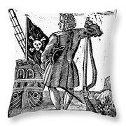 Stede Bonnet (c1688-1718) Throw Pillow