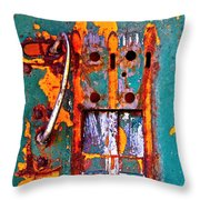 Steel Abstraction Throw Pillow