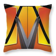 Steel Beams 02 Mirror Image Throw Pillow