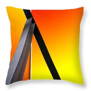 Steel Beams 02 Throw Pillow