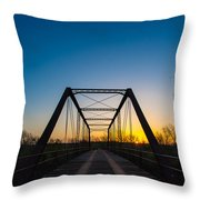 Steel Bridge Throw Pillow