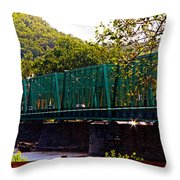 Steel Bridge Throw Pillow