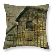 Steel Buildings Throw Pillow