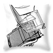 Steel Chair Throw Pillow