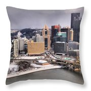 Steel City Storm Clouds Throw Pillow