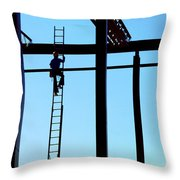 Steel Construction Throw Pillow