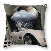 Steel Frame Stingray Throw Pillow
