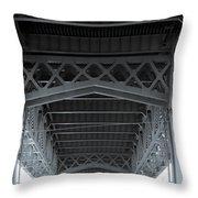Steel Girder Bridge Throw Pillow